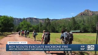 Backbone Fire forces Boy Scout camp to evacuate troops