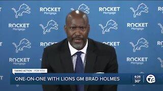 Lions GM Brad Holmes talks one-on-one with WXYZ's Brad Galli