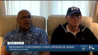 Yard signs condemning homosexuality ignite frustration in Tulsa neighborhood