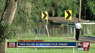 Motorcyclist, passenger found dead in Hillsborough County after apparent crash: Deputies