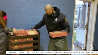 Police partner with local stores to feed families in need