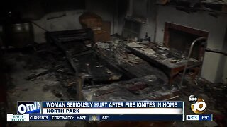 Woman rushed to hospital after North Park house fire