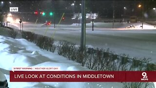 Road conditions in Middletown
