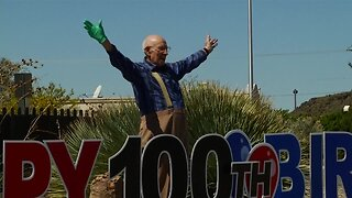 Community celebrates WWII veteran's 100th birthday
