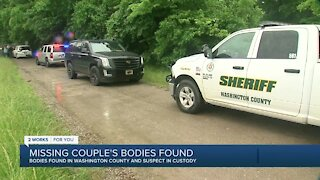 Missing couple's bodies found in Washington County, suspect in custody