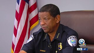West Palm Beach Police Chief Frank Aderly wants community to help solve crime