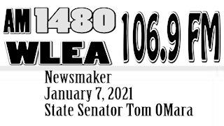 Wlea Newsmaker, January 7, 2021, Senator Tom O'Mara