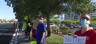 Nurses protest possible layoffs