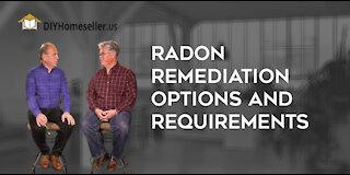 Radon, Remediation Options & Requirements