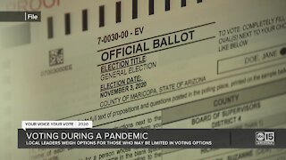 Voting during a pandemic for those with limited options