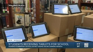 Glendale Elementary School Districts receiving tablets for online learning