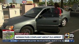 Woman files complaint about DUI arrest