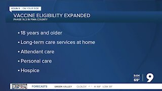 Pima County expands vaccine eligibility