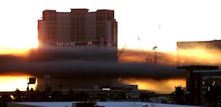 Outside fire closes portion of Interstate 15 near Las Vegas Strip