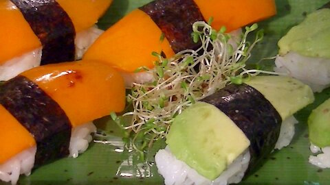 Vegetarian Nigiri Sushi Recipe