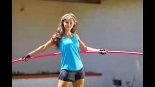 Fitness instructor sets new Hula Hoop world record