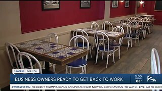 Business Owners Ready To Get Back To Work
