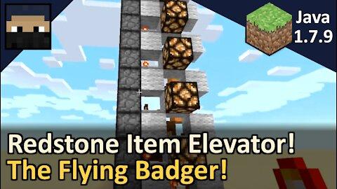 Flying Badger Item Elevator! Minecraft Java 1.7.9