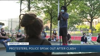 Detroit protesters, police speak out after clashing