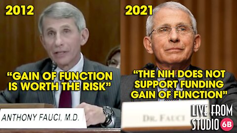 BOMBSHELL! Fauci Supported Gain of Function in 2012!!