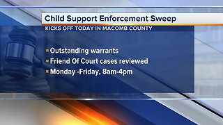 Macomb County Sheriff's office cracking down on parents dodging child support payments