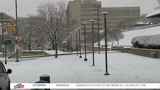 Baltimore City hit with rain, snow mixture