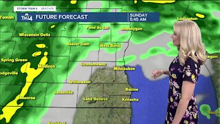 Scattered showers to start Sunday