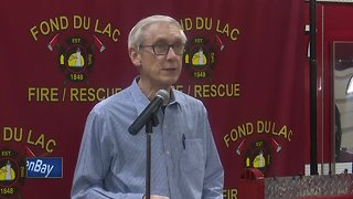 Gov. Evers tours areas damaged by flooding