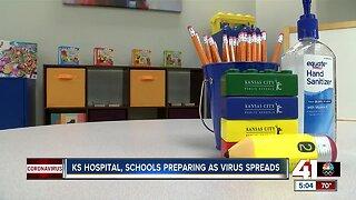 Kansas hospital, schools prepare as coronavirus spreads