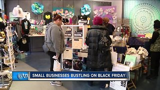 Small businesses cash in on Black Friday rush