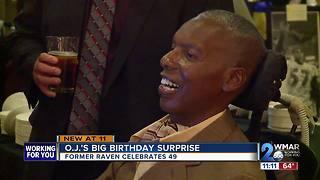 Former Ravens O.J. Brigance's Surprise Birthday Bash
