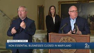 Governor Hogan closes all non-essential businesses during Coronavirus