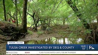 Tulsa creek investigated by DEQ & county