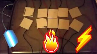 How To Make A Thermoelectric Generator - TEG - Seebeck Effect - DIY Project 🔥+❄️=⚡
