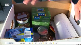 Midwest Food Bank disaster relief boxes for hurricane season