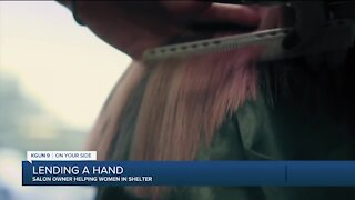 Hair salon owner helps community