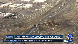 Traffic alert: Portion of I-70 will be closed this weekend