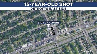 Teen shot multiple times on Detroit's east side, police investigating