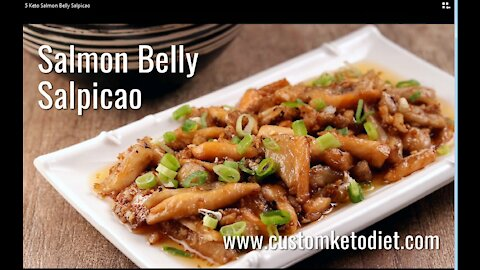 Keto Salmon Belly Salpicao Recipe