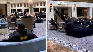 Donald Trump Gives Military Police 5 Star Treatment at his DC Trump Tower Hotel