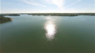 First-Person View (FPV) Drone Flight Over Lake with GPS Telemetry