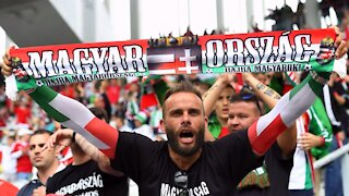HUNGARIAN SOCCER FANS BOO BLM KNEELERS!!!