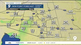 Cooler with a slight chance of showers by Friday