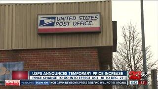 USPS temporary price hike