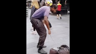 Lone street performer deserves some love for his amazing skills