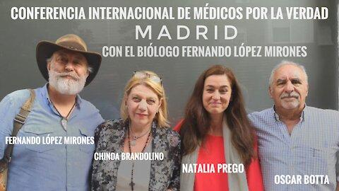 Conferencia Internacional en Vivo desde Madrid - Médicos por la Verdad con el Biólogo Fernando Mirones.