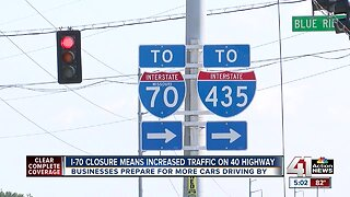 I-70 closure means increased traffic along 40 Highway