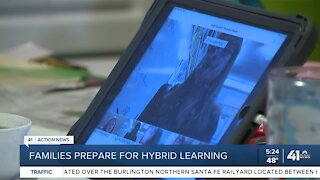 Families prepare for hybrid learning