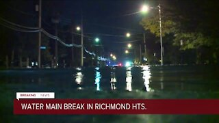 Water main break in Richmond Heights leaves surrounding areas without water