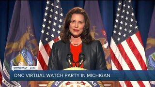 DNC virtual watch party in Michigan